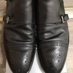 Antonio Maurizi Men's black leather shoes 13/46